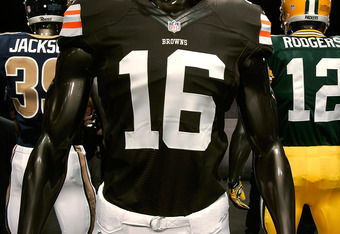 The Browns' largely unchanged 2012 uniforms.