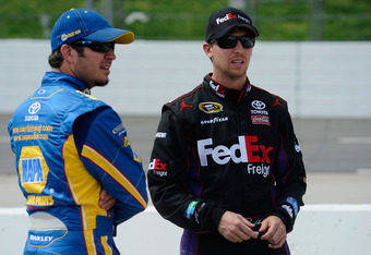 Both Martin Truex Jr. and Denny Hamlin developed long-lasting brand associations during their time as development drivers for Sprint Cup teams.