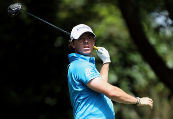 AUGUSTA, GA - APRIL 05:  Rory McIlroy of Northern Ireland hits a tee shot on the second hole during the first round of the 2012 Masters Tournament at Augusta National Golf Club on April 5, 2012 in Augusta, Georgia.  (Photo by Andrew Redington/Getty Images