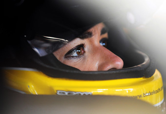 MONTREAL, QC - AUGUST 19:  Maryeve Dufault, driver of the #81 Quebec Dodge Dealers Dodge, prepares to practice for the NASCAR Nationwide Series NAPA Auto Parts 200 at Circuit Gilles Villeneuve on August 19, 2011 in Montreal, Canada.  (Photo by Jason Smith