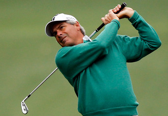 AUGUSTA, GA - APRIL 06:  Fred Couples of the United States hits a shot on the first hole during the second round of the 2012 Masters Tournament at Augusta National Golf Club on April 6, 2012 in Augusta, Georgia.  (Photo by Streeter Lecka/Getty Images)