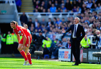 Pardew watches on as former player Andy Carroll struggles for Liverpool