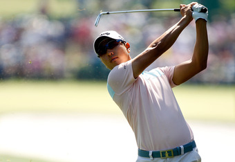 AUGUSTA, GA - APRIL 07:  Sang-moon Bae of Korea hits an approach shot on the first hole during the third round of the 2012 Masters Tournament at Augusta National Golf Club on April 7, 2012 in Augusta, Georgia.  (Photo by Streeter Lecka/Getty Images)
