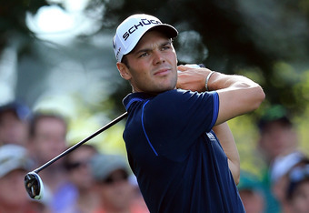 AUGUSTA, GA - APRIL 05:  Martin Kaymer of Germany hits a tee shot on the fourth hole during the first round of the 2012 Masters Tournament at Augusta National Golf Club on April 5, 2012 in Augusta, Georgia.  (Photo by David Cannon/Getty Images)