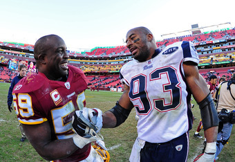 London Fletcher and Andre Carter are looking for new deals.