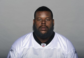 METAIRE, LA - CIRCA 2011: In this handout image provided by the NFL,  Shaun Rogers of the New Orleans Saints poses for his NFL headshot circa 2011 in Metairie, Louisiana. (Photo by NFL via Getty Images)