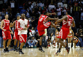 Houston celebrates as they land Anthony Davis in the new NBA draft Lottery