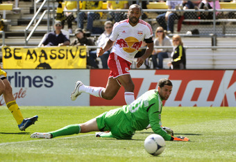 Can anyone stop Thierry Henry right now? MLS's leading goalscorer added two more against Columbus last weekend.