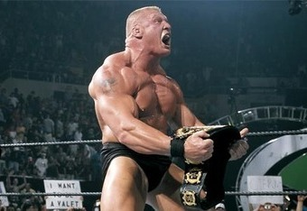 Brock Lesnar wins his first WWE Championship.