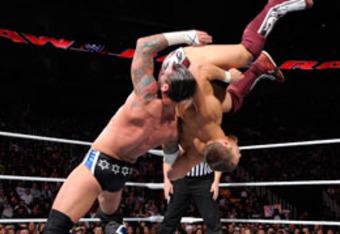CM Punk takes on Daniel Bryan.