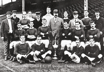 Manchester United won the First Division for the second time during the 1910-11 season.