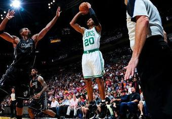Ray Allen Lifted Boston's Second Unit (Photo by Scott Cunningham/NBAE via Getty Images)