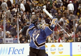 Olaf Kolzig did a lot of this during the spring of 1998.