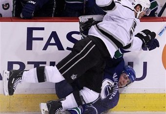 The Kings' Mike Richards leading by example.