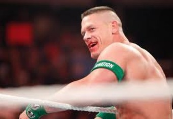 Cena's battle wounds from last Monday.