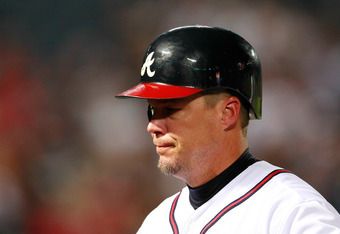 """Mets fans will get at least one more opportunity to greet Chipper Jones with chants of """"Larry"""" this season."""
