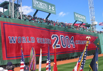 For comparison purposes, here is the current left-field wall from Opening Day in 2005.