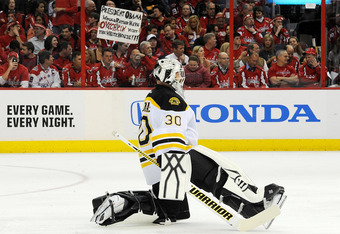 Tim Thomas will look to rebound in Boston for Game 5.