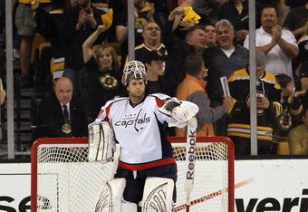 Washington's rookie goaltender gave up four goals on 31 shots in Game 6.