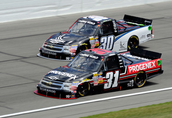 Buescher(31) has been solid in 2012 with three Top 5s in four races, including a win