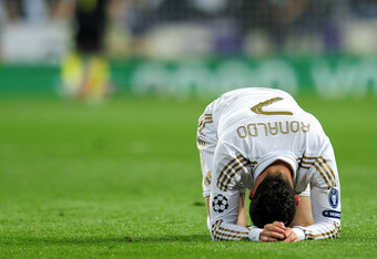Ronaldo was clearly dejected from failing to score from the spot