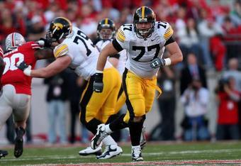 Detroit gets a gift at 23rd overall in the form of a 6'6, 320 pound road grading offensive tackle. AP PHOTO