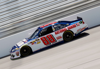 RICHMOND, VA - APRIL 27:  Dale Earnhardt Jr. drives the #88 National Guard/Diet Mountain Dew Chevrolet during practice for the NASCAR Sprint Cup Series Capital City 400 at Richmond International Raceway on April 27, 2012 in Richmond, Virginia.  (Photo by