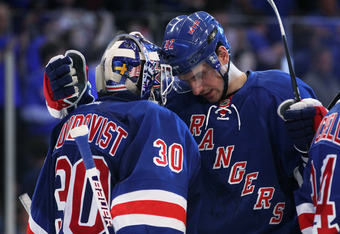 Henrik Lundqvist held the Capitals to one goal in Game 1 on Saturday at Madison Square Garden.