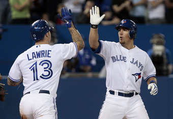 Brett Lawrie is expected to hit home runs for the Blue Jays. Jeff Mathis, not so much.