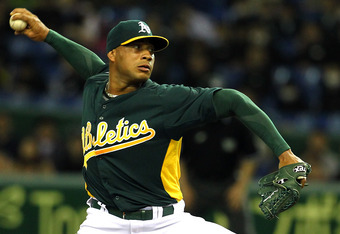 Nothing against Fautino De Los Santos, but the 2012 Oakland Athletics were the wrong place at the wrong time for him.