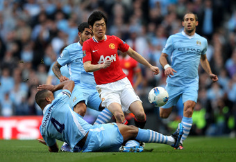 Park Ji-Sung is an old hand at Old Trafford, but shouldn't have been on the field today.