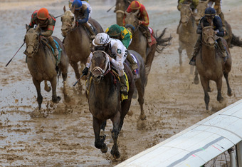 Conditions were not ideal at the 2010 Kentucky Derby.