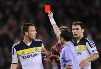 Chelsea captain John Terry will miss the match after receiving a red card against Barcelona in Leg 2 of the semifinal.