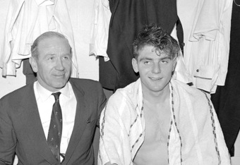 Sir Matt Busby and Duncan Edwards (http://www.whoateallthepies.tv)