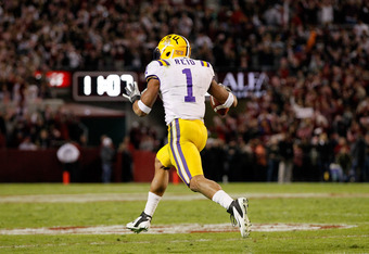 TUSCALOOSA, AL - NOVEMBER 05:  Eric Reid #1 of the LSU Tigers against the Alabama Crimson Tide at Bryant-Denny Stadium on November 5, 2011 in Tuscaloosa, Alabama.  (Photo by Kevin C. Cox/Getty Images)