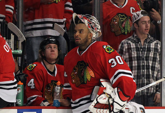 Ray Emery held down the fort in December and won 15 games as the backup.