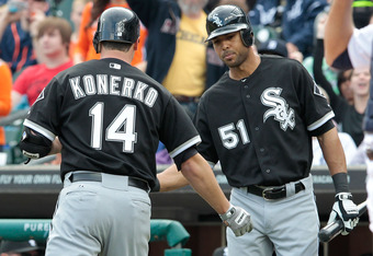 Paul Konerko got the White Sox on the board with a seventh-inning homer.