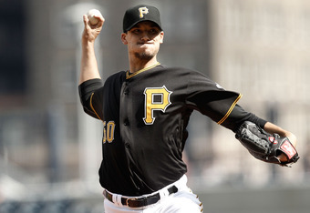 PITTSBURGH, PA - APRIL 25:  Charlie Morton #50 of the Pittsburgh Pirates pitches against the Colorado Rockies during the second game of a doubleheader on April 25, 2012 at PNC Park in Pittsburgh, Pennsylvania.  (Photo by Jared Wickerham/Getty Images)