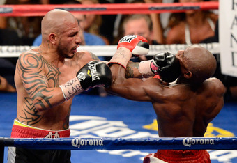 """While Floyd Mayweather again showed his defensive skills May 5 at the MGM Grand, Miguel Cotto showed he could touch """"Money"""" up on several occasions."""