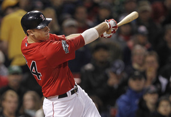 BOSTON, MA - MAY 4:  Will Middlebrooks #64 of the Boston Red Sox follows through against the Baltimore Orioles during the third inning of the game at Fenway Park on May 4, 2012 in Boston, Massachusetts.  (Photo by Winslow Townson/Getty Images)