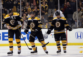 Bruins suiffer first-round loss in defense of Stanley Cup