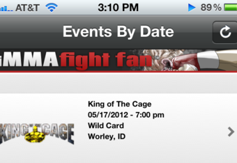 Photo via Jim Nilson/ A preview of the iMMA Fight Fan App