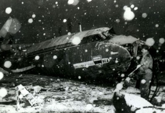 Wreckage from the Munich air disaster (guardian.co.uk)