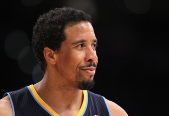 LOS ANGELES, CA - MAY 08:  Andre Miller #24 of the Denver Nuggets looks on in the second quarter against the Los Angeles Lakers in Game Five of the Western Conference Quarterfinals in the 2012 NBA Playoffs on May 8, 2012 at Staples Center in Los Angeles,