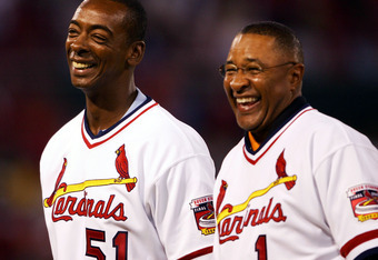 Willie McGee and Ozzie Smith were special instructors with the Cardinals this past spring.
