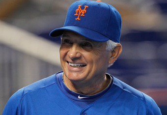Mets manager Terry Collins is clearly not thinking about his bullpen in this moment.