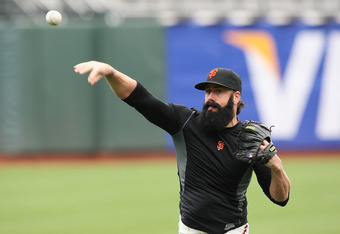 The Beard may have thrown his last pitch as a Giant