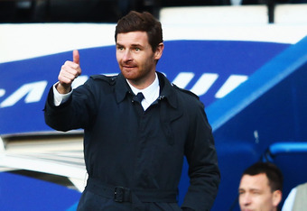 LONDON, ENGLAND - FEBRUARY 25:  Andre Villas-Boas the Chelsea manager watches from the touchline during the Barclays Premier League match between Chelsea and Bolton Wanderers at Stamford Bridge on February 25, 2012 in London, England.  (Photo by Clive Mas