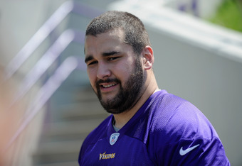 EDEN PRAIRIE, MN - MAY 4: Matt Kalil #75 of the Minnesota Vikings looks on during a rookie minicamp on May 4, 2012 at Winter Park in Eden Prairie, Minnesota. (Photo by Hannah Foslien/Getty Images)