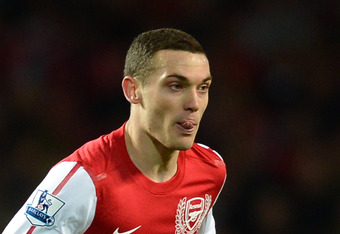 LONDON, ENGLAND - APRIL 16:  Thomas Vermaelen of Arsenal in action during the Barclays Premier League match between Arsenal and Wigan Athletic at Emirates Stadium on April 16, 2012 in London, England.  (Photo by Laurence Griffiths/Getty Images)